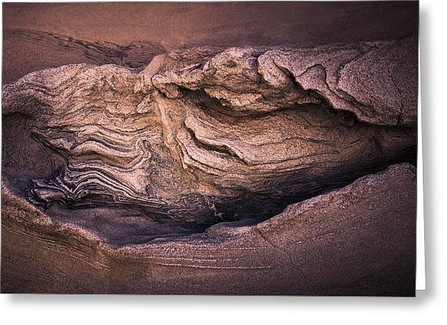 Desert Wall Abstract Greeting Card by Joseph Smith