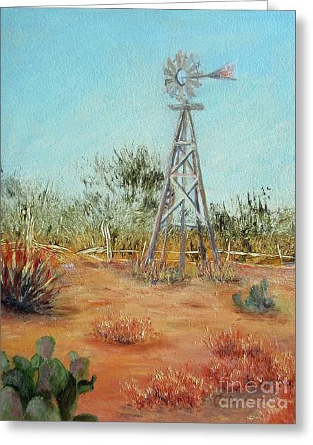 Desert Windmill Greeting Card