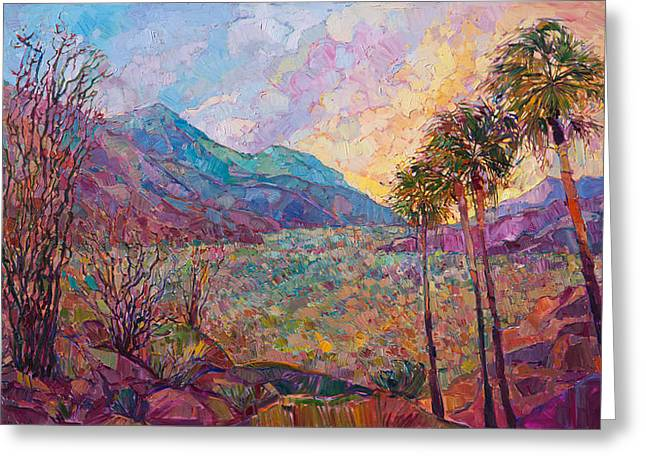 Greeting Card featuring the painting Desert Wonderland by Erin Hanson
