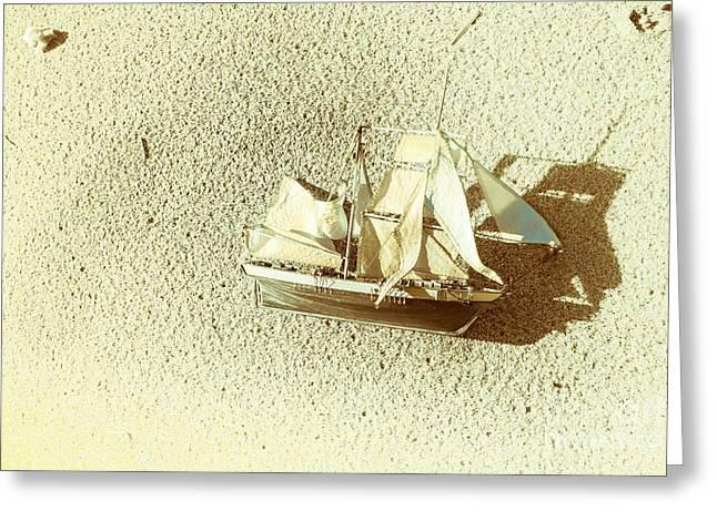 Deserted Antique Sailing Ship Greeting Card