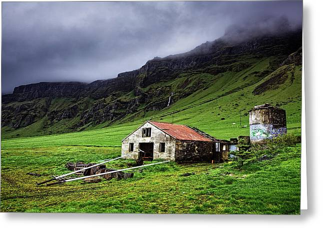 Deserted Barn In Iceland Greeting Card