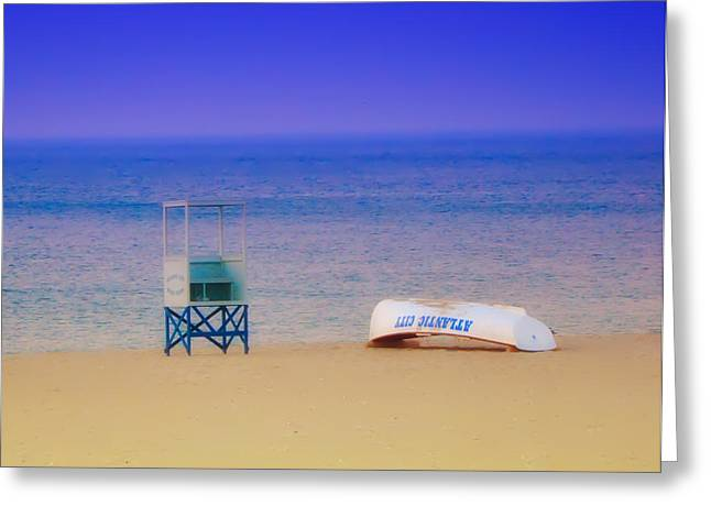 Deserted Beach Greeting Card by Bill Cannon