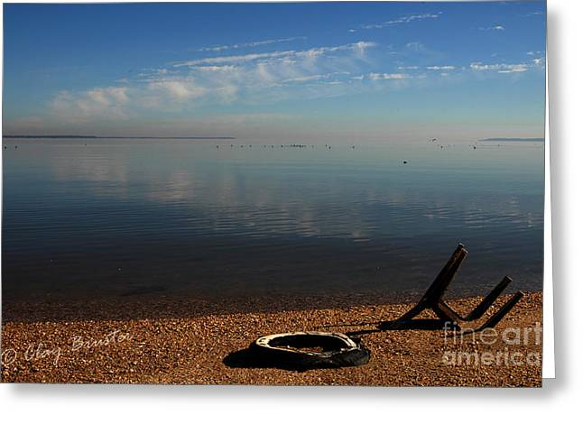 Deserted Beach Greeting Card by Clayton Bruster