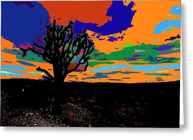 Deserted Color Landscape Greeting Card by Kenneth James