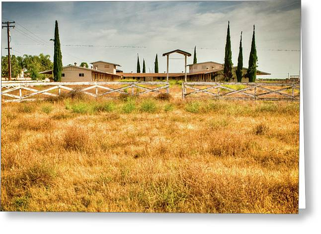 Deserted Horse Stables Greeting Card by Connie Cooper-Edwards