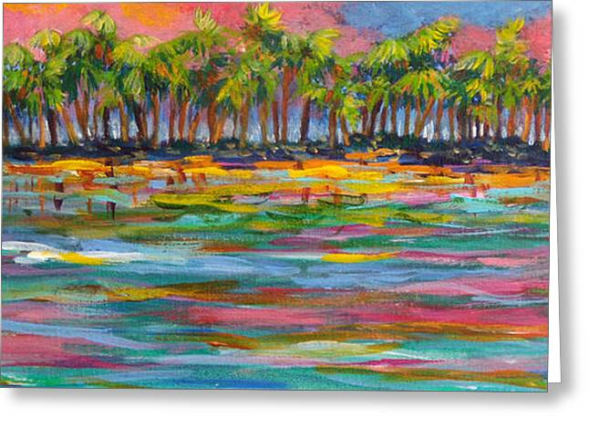 Deserted Island Greeting Card by Anne Marie Brown