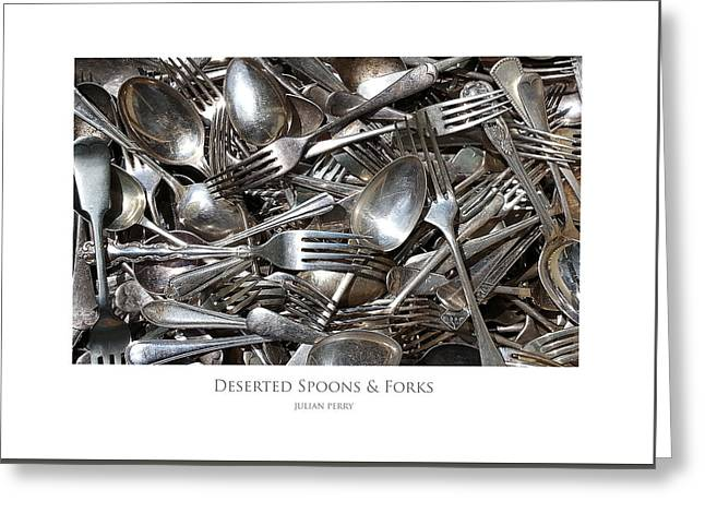 Deserted Spoons And Forkes Greeting Card