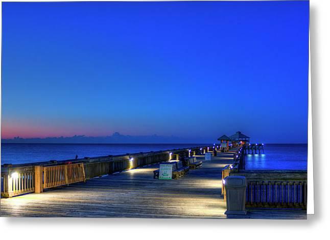 Deserted Sunrise Folly Beach Charleston South Carolina Art Greeting Card by Reid Callaway