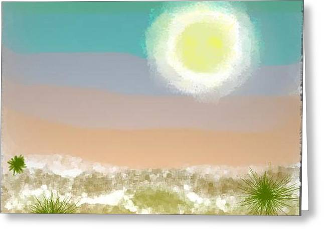 Greeting Card featuring the digital art Desert.night.moon by Dr Loifer Vladimir