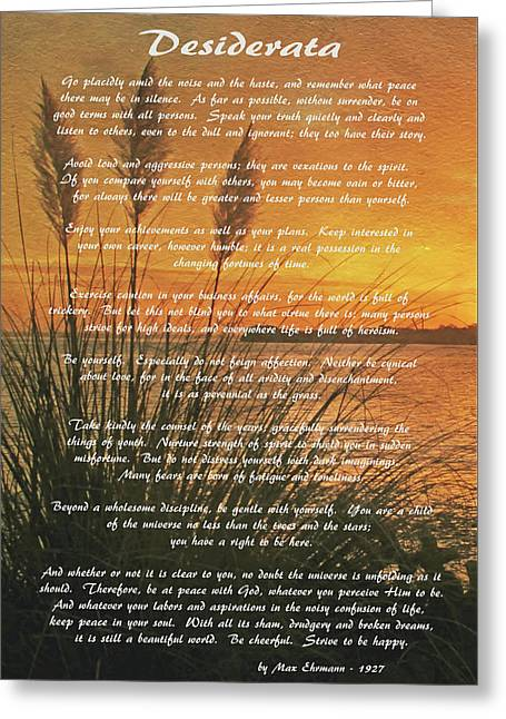 Desiderata - Go Placidly Greeting Card