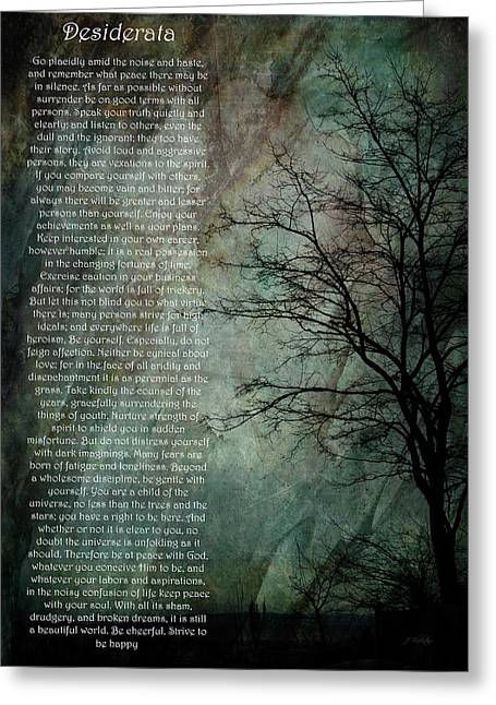 Desiderata Of Happiness - Vintage Art By Jordan Blackstone Greeting Card