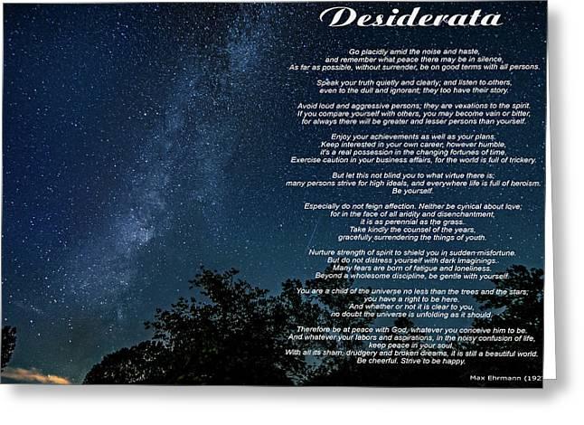 Desiderata - The Milky Way  Greeting Card by Steve Harrington