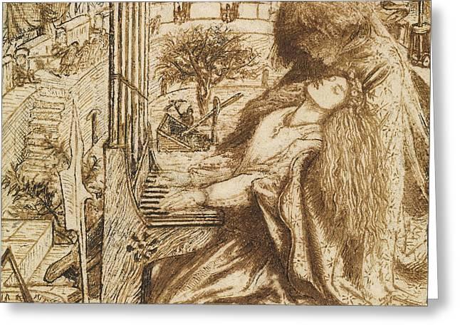 Design For Moxon's Tennyson - Saint Cecilia Greeting Card
