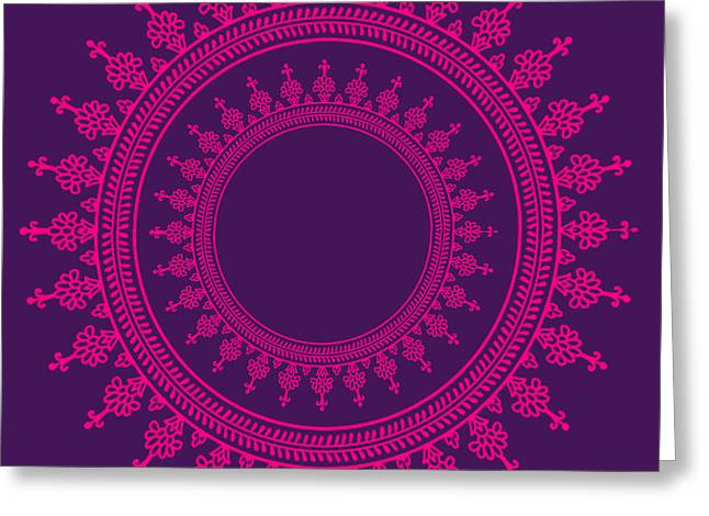 Design In Pink Greeting Card by Art Spectrum