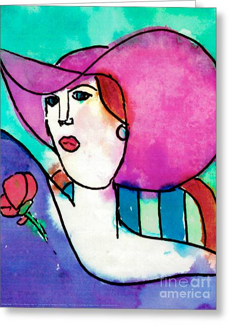 Design Lady Greeting Card
