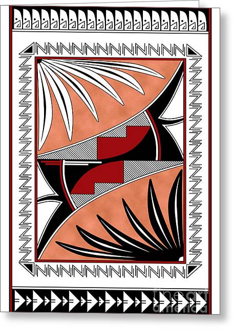 Southwest Collection - Design Three In Red Greeting Card by Tim Hightower