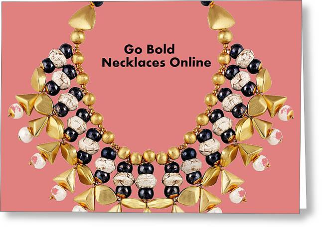 Designer Necklaces For Women Greeting Card by Jessica