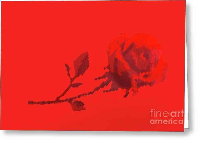 Greeting Card featuring the photograph Designer Red Rose by Linda Phelps