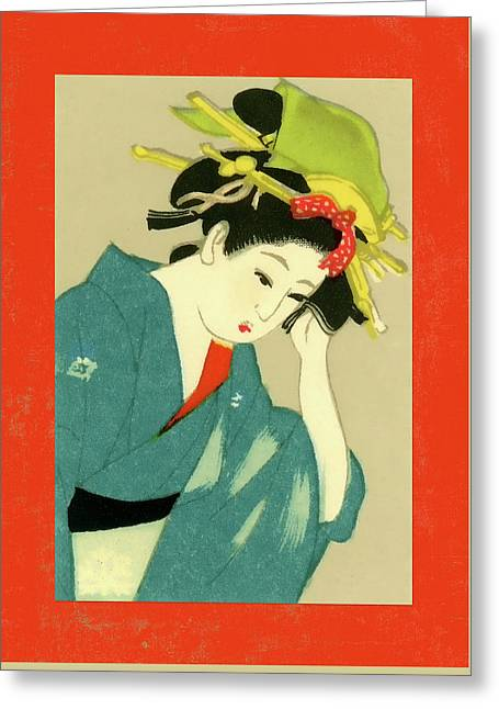 Designer Series Japanese Matchbox Label 126 Greeting Card