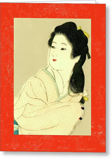 Designer Series Japanese Matchbox Label 132 Greeting Card