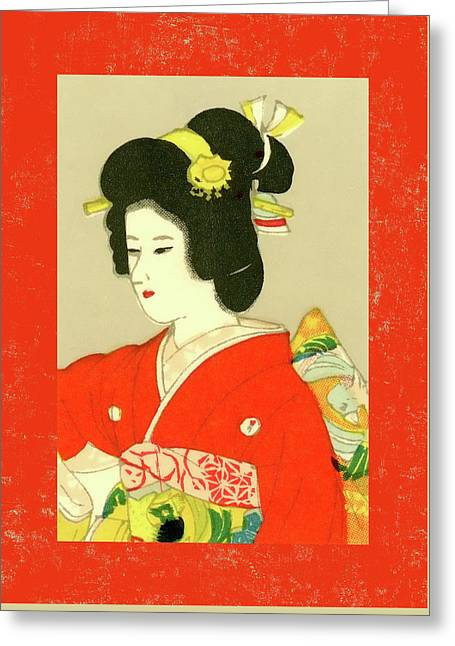Designer Series Japanese Matchbox Label 133 Greeting Card