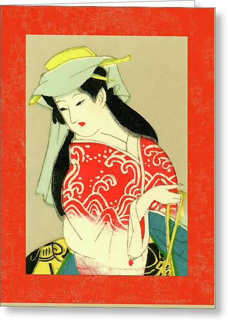 Designer Series Japanese Matchbox Label 135 Greeting Card