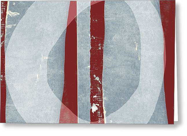 Designer Series Red And Blue 11 Of 11 Greeting Card by Carol Leigh