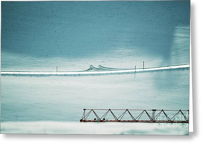 Greeting Card featuring the photograph Designs And Lines - Winter In Switzerland by Susanne Van Hulst