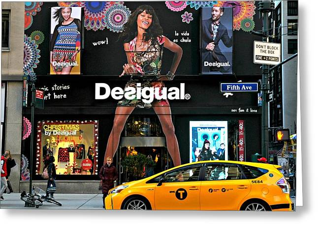 Desigual Greeting Card by Diana Angstadt