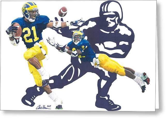 Desmond Howard - Hello Heisman Greeting Card by Chris Brown