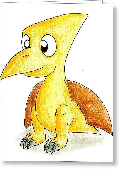 Desmond The Pterodactyl Greeting Card