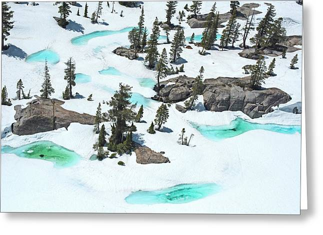Greeting Card featuring the photograph Desolation Blue Ice by Brad Scott