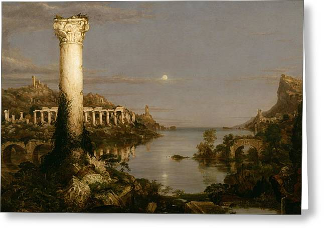 Desolation Greeting Card by Thomas Cole