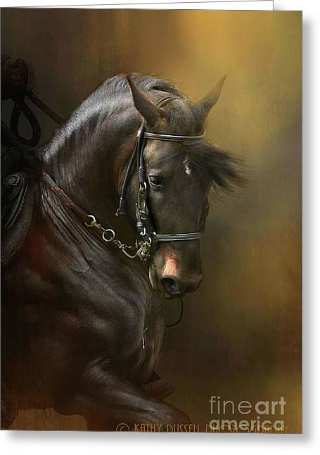 Desparate' In Gold Greeting Card by Kathy Russell