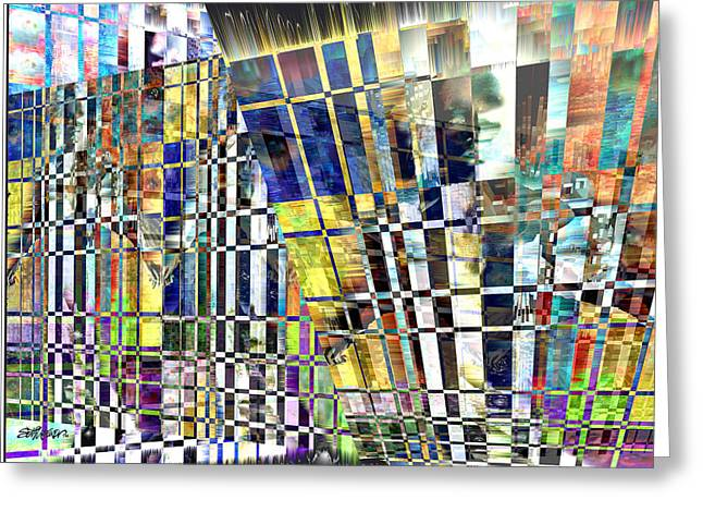 Desperate Mixed Media Greeting Cards - Desperate Reflections Greeting Card by Seth Weaver