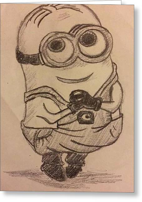 Despicable Me Greeting Card by Megan Reppert