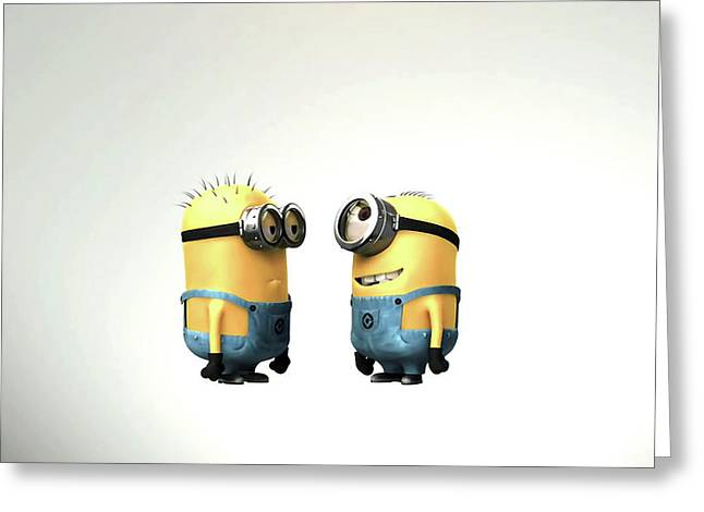 Despicable Me Minions                    Greeting Card by F S
