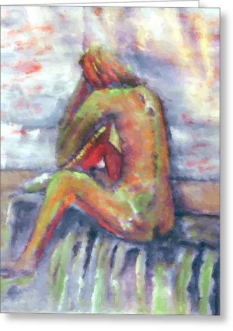 Despondent Greeting Card by Shelley Bain