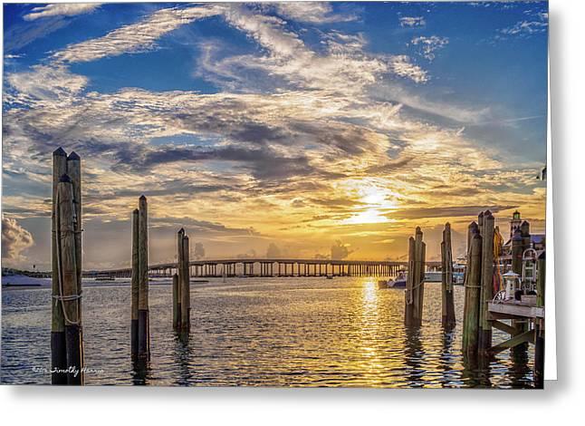 Destin Harbor #1 Greeting Card