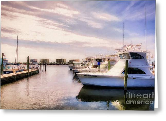 Destin Harbor Daydreams Greeting Card by Mel Steinhauer