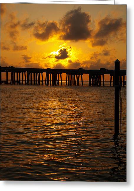 Destin Harbor Sunset 1 Greeting Card by James Granberry