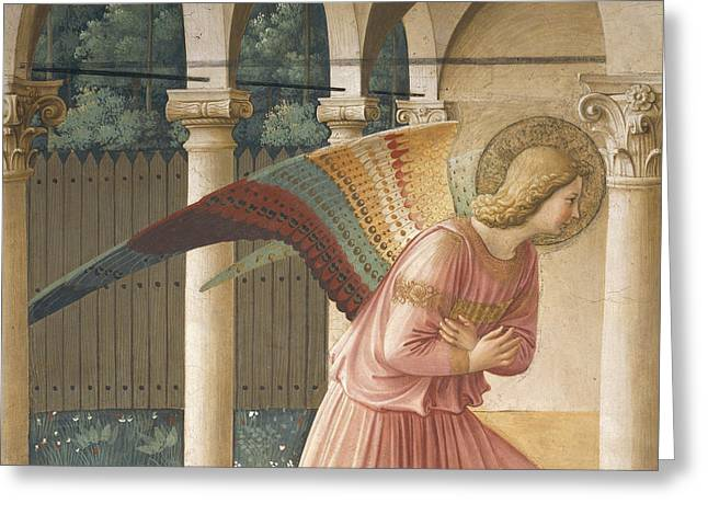 Detail From The Annunciation Showing Archangel Gabriel Greeting Card by Fra Angelico