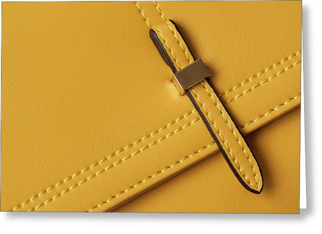 Detail Leather Bags Close-up.  Greeting Card by Svetlana Iso