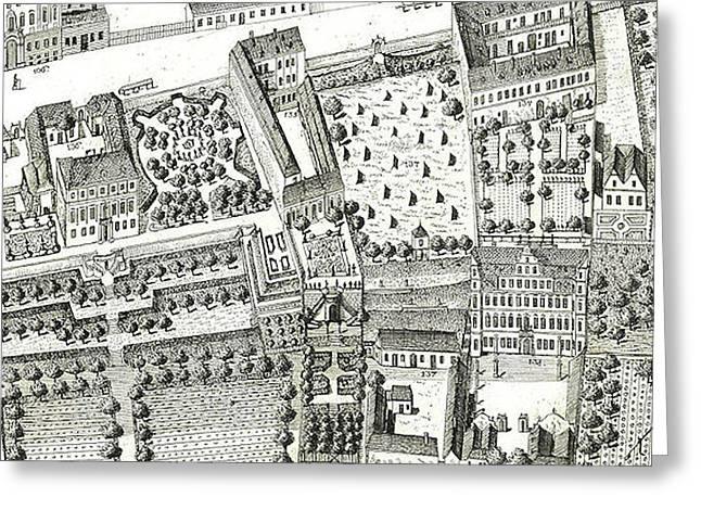 Detail Of A Map Of Vienna Showing 135 Alsergrund Where Mozart And His Family Lived During 1788  Greeting Card
