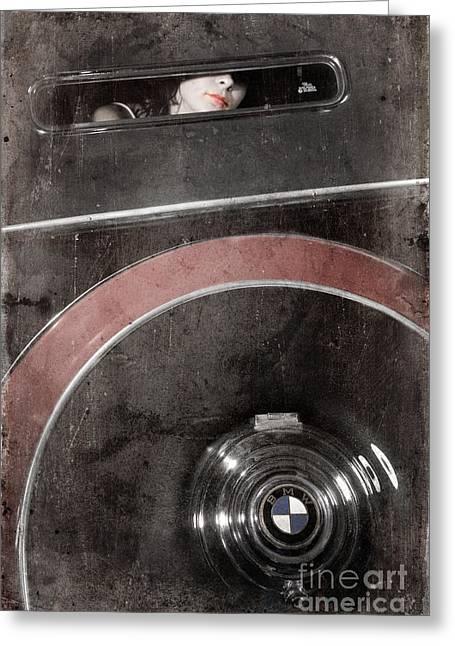 Detail Of A Vintage Car. Greeting Card by Andrey  Godyaykin