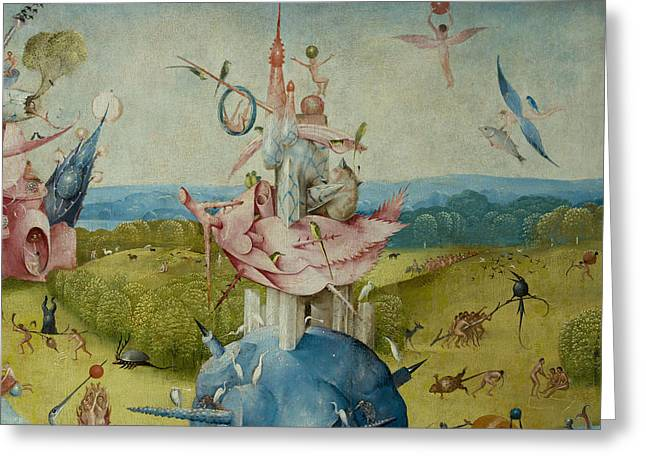 Detail Of Central Panel From  Greeting Card by Hieronymus Bosch