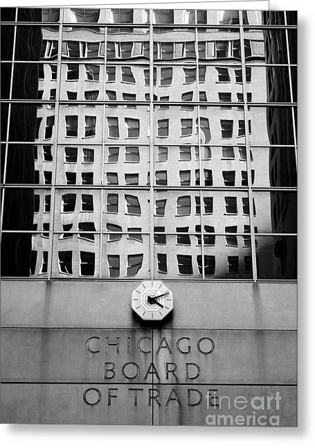 Detail Of Chicago Board Of Trade Building Greeting Card by Lane Erickson