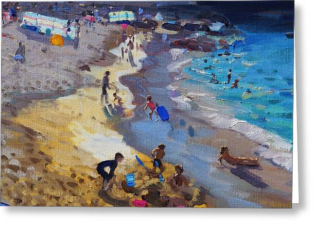 Detail Of Overlooking Porthmeor Beach St Ives Greeting Card by Andrew Macara