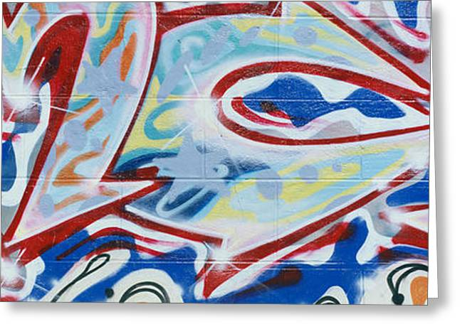 Detail Of Street Graffiti Greeting Card by Panoramic Images