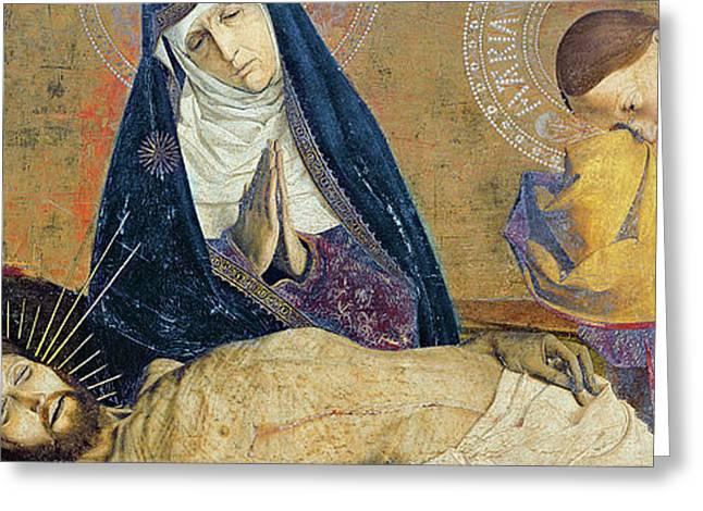 Detail Of The Avignon Pieta Greeting Card